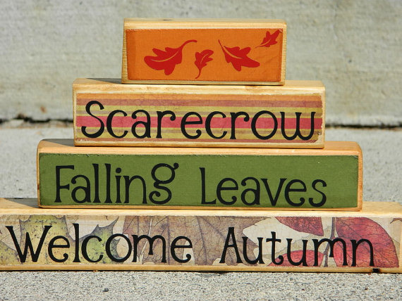Fall Wooden Stacker by Fayes Attic