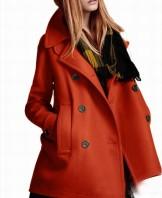 Orange Wool Jacket from Whitelily Fashion