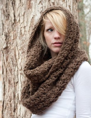 The Chunky Cowl Scarf Shawl Hood from A Speckled Hen