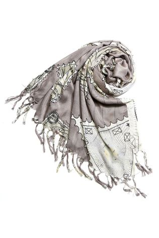 Worldly scarf in grey from Peppermint